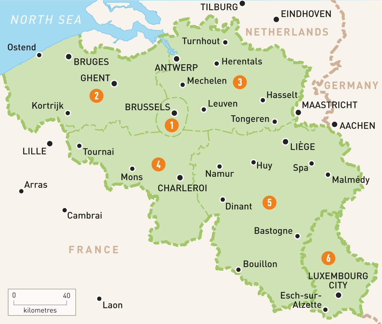 Brugge Bryssel Kartta Kartta Brugge Ja Bryssel Belgia