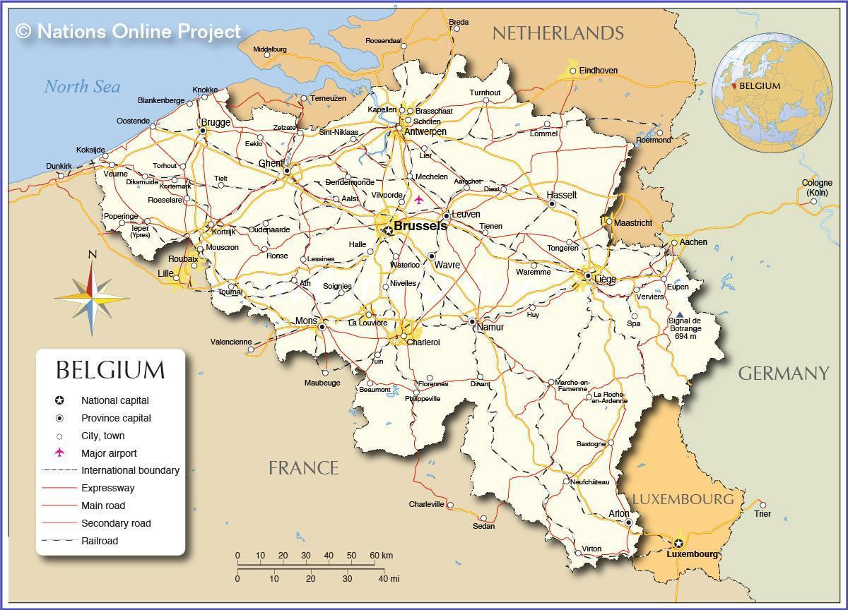 Bryssel Belgia Kartta Metro Kartta Bryssel Belgia