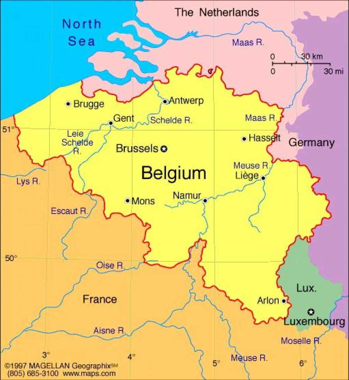 Kartta Ranska Ja Bryssel Kartta Bryssel Ja Ranska Belgia