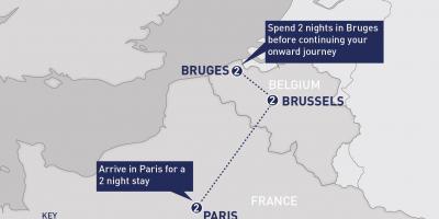 Brussels Map Karttoja Bryssel Belgia